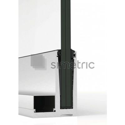 Profil L suport inferior pentru balustrada de sticla cu prindere de pardoseala - 3 ml