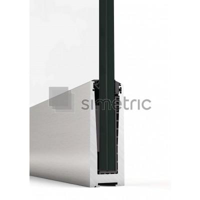 Profil U suport inferior pentru balustrada de sticla cu prindere de pardoseala - 3 ml