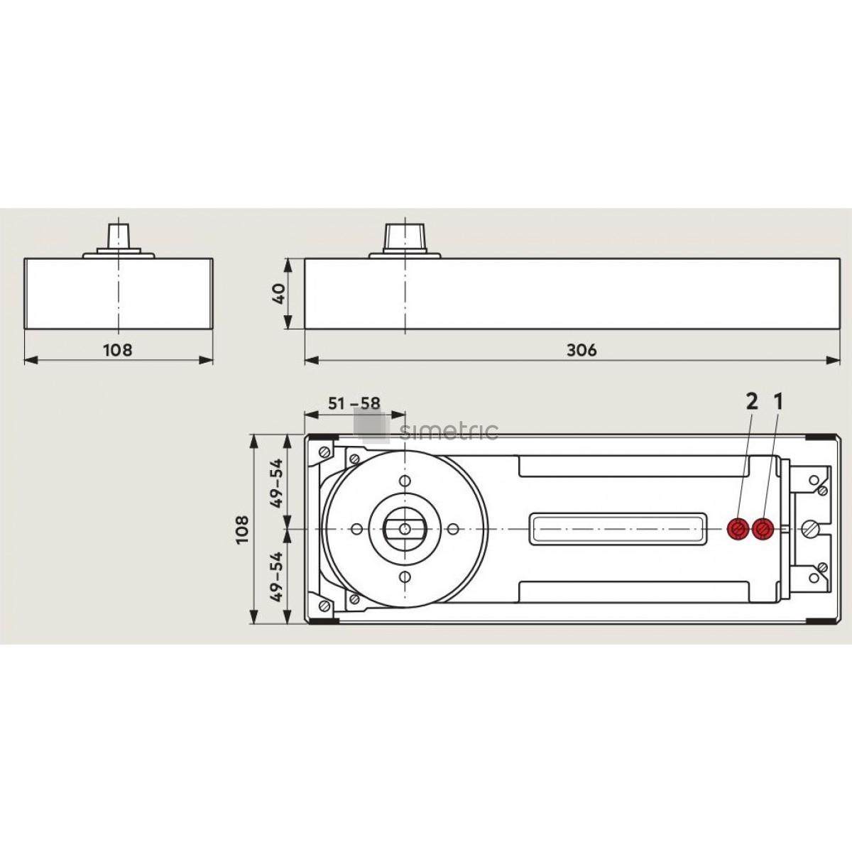 DORMA BTS 84 - Amortizor de pardoseala cu blocare la 90 Grade - EN 3 - 81210001