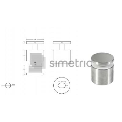 Conector cu reglaj pe adancime sticla - perete balustrade AN12
