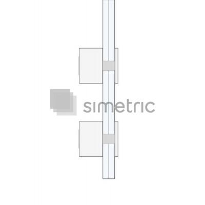 Conector sticla-perete balustrade - adancime 40 mm