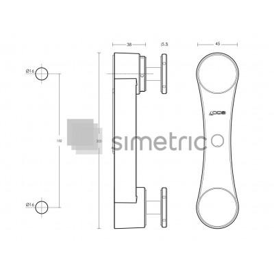 Conector cu reglaj pe 5 axe sticla - perete balustrade AN11