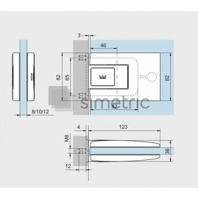 DORMA TENSOR - Set balamale batante cu placa incorporata in toc - 12.522