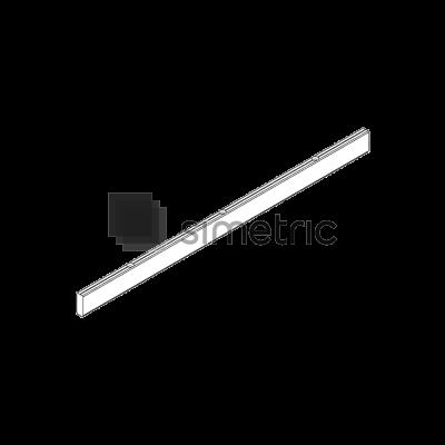 DORMA - Adaptor 12,5X36 mm pentru usi glisante de lemn, lungime 1460 mm - 36.261.000