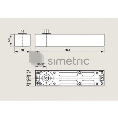 DORMA BTS 80 - Amortizor de pardosela cu blocare la 90 Grade - EN 4 - 80.110.001