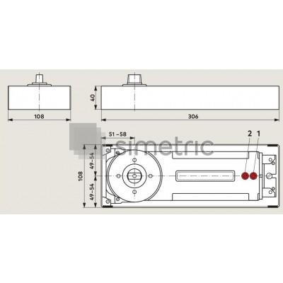 DORMA BTS 84 - Amortizor de pardoseala  cu blocare la 90 Grade - EN 4 - 81.200.001
