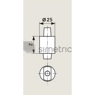 DORMA BTS - Insert extins amortizor de pardoseala BTS 75 V / BTS 80 / BTS 84 - 452004xx