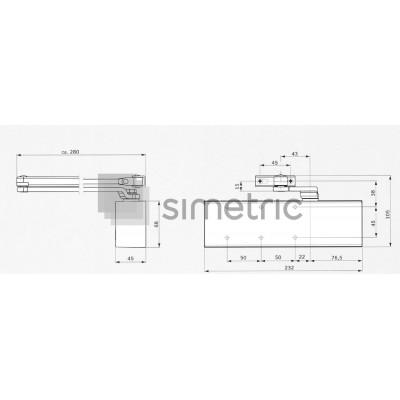 DORMA TS 72 - Amortizor usi de interior - EN 2-4 - 222321xx