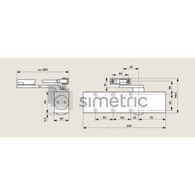 DORMA TS 73V - Amortizor usi de interior si de exterior, usi rezistente la foc - EN 2-4 - 370101xx