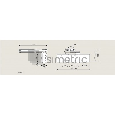 DORMA TS 83 - Amortizor usi de interior si de exterior, usi rezistente la foc  - EN 3-6 - 38.010