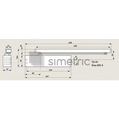 DORMA TS 91 B - Amortizor usi de interior - trafic intens - EN 3 - 410201xx