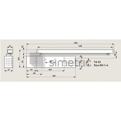 DORMA TS 92 B - Amortizor usi de interior - trafic intens - EN 1-4 - 42.020