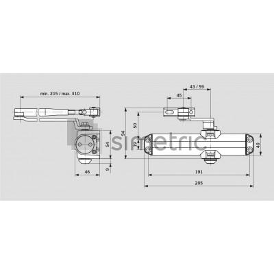 DORMA TS COMPAKT - Amortizor usi interior cu brat cu blocare inclus - trafic usor - EN 2/3/4 - 670102xx