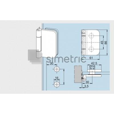 DORMA OFFICE Junior - Balama usa sticla securizata cu prindere laterala 12.090