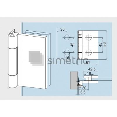 DORMA OFFICE Clasic - Balama usa sticla securizata, cu prindere laterala - 12.091