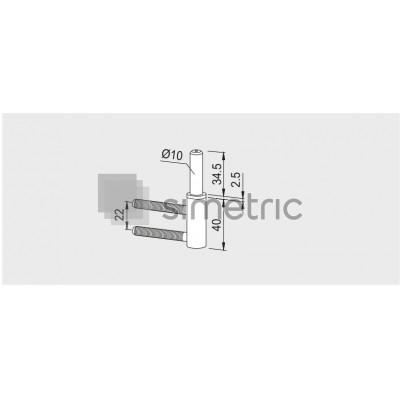 DORMA  - Pivot cu 2 pini pentru tocuri de lemn - 10.424