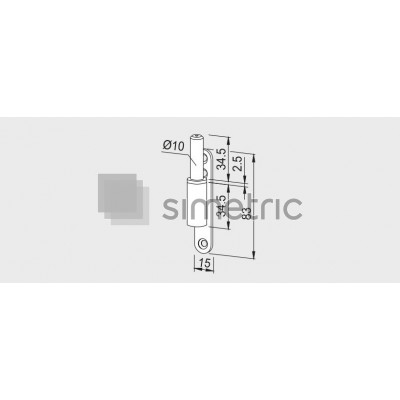 DORMA - Pivot cu prindere mecanica pentru toc Lemn / Aluminiu / Otel - 10.407