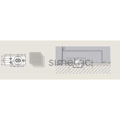 Dorma Universal Light - Pivot de pardoseala 7475 AX - 45070003