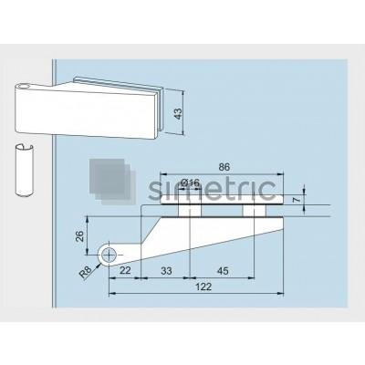 DORMA STUDIO Classic  - Balama usa sticla securizata 8 mm - 10.021