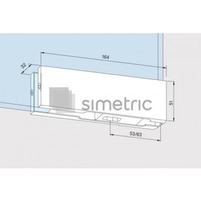 DORMA Universal Light - PT 10 - Balama inferioara - Sticla 10 / 12mm - 03.502.700
