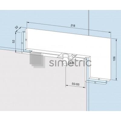 DORMA Universal Light - PT 40 - Balama supralumina si luminator lateral - Sticla 10 / 12mm - 03.542.700