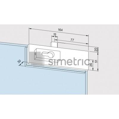 DORMA Universal Light - US 10 - Incuiere in pardoseala - Sticla 10 / 12mm - 03.608.700