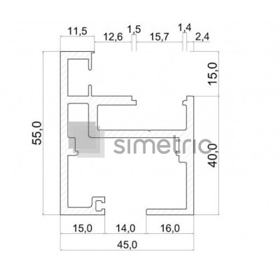 DORMA ALEXA FLIPP 55 - Toc usa batanta sticla securizata - 5,6 ml - 2761384