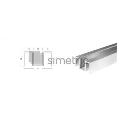 Profil U inferior fixare sticla pe pardoseala - GG01 - 2.2 ML