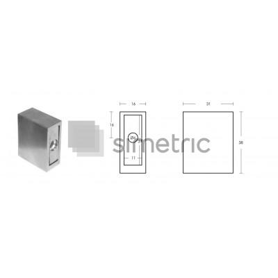 Suport fixare perete pentru profil GT02 - HL34