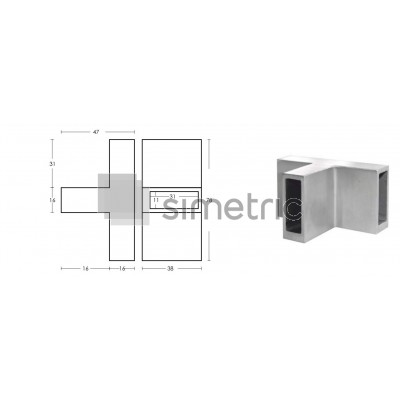 Conector T pentru profil GT02 - HL40