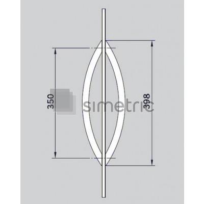 DORMA  Maner Arcos  - 1 SET.  Interax 350mm - 26.500.114