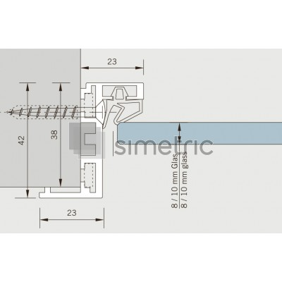 DORMA ALEXA AT 23 E - Toc usa batanta sticla securizata - 5,5 ml - 32.011