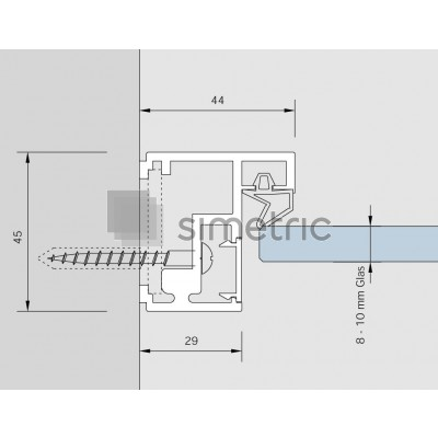 DORMA ALEXA AT 44 - Toc usa batanta sticla securizata - 5,5 ml - 32.015